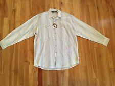Vintage Woolrich Men's Sz LARGE Ramie/Cotton Lightweight Striped Shirt - NWT