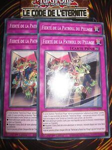 YU-GI-OH! PLAYSET (LOT DE 4) FIERTE DE LA PATROLL DU PILLAGE ETCO-FR090 NEUF ED1