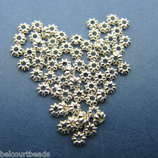 400 Scalloped Shell Metal 5mm Beads Lead, Nickel and Cadmium Free Beads