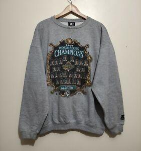 Florida marlins World Series Champions 1997  Starter Sweaters Baseball Sweat XL