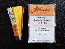 Johnson Universal Indicator Paper 10 Books Test paper Ph 1 - 11