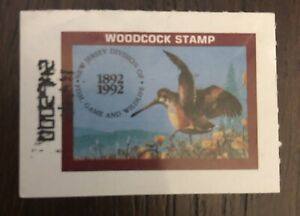 1992 NJ Woodcock Stamp 100 Year Anniversary Unsigned.