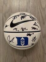 2020-21 Duke Team Signed Autographed Basketball Blue Devils White Panel Ball HOT