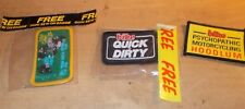 BIKE MAGAZINE SEW ON PATCHES OGRI x3 MOTORCYCLE