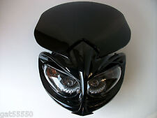 New Universal Motorcycle Headlight Streetfighter Enduro Alien Custom Gsxr Zxr