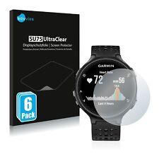 6x Savvies protector de pantalla para Garmin Forerunner 235 transparente