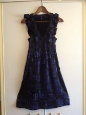 BNWOT TED BAKER EVENING COCKTAIL PARTY SILK DRESS SIZE1 UK8 RRP£120