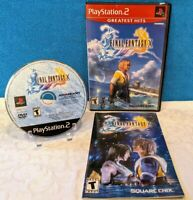 Final Fantasy X (Sony PlayStation 2, 2001) with Manual - Tested & Working