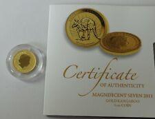 Fine gold 1/10th oz Australian Kangaroo coin 2011 with cert. Weight 3.1g  - 1217