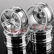 4x Wheel Rim For 1/10 RC Drift Racing HSP RedCat Himoto HPI SILVER 614 Aluminum