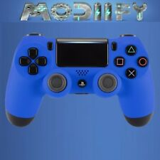 PS4 Pro V2 controller blue soft touch shell  (shell only)