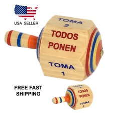Mexican Traditional Wooden Toy Toma Todo Handmade Multicolor Made in Mexico