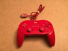 Red Wii Pro Controller - Official Nintendo Classic U (TESTED/WORKING)