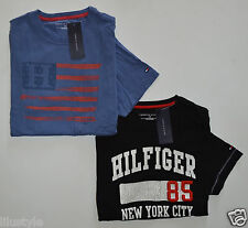 NWT TOMMY HILFIGER men's 2-Pack Short Sleeve T-Shirt, S, Small, Blue + Black