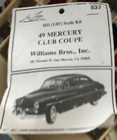 Williams Bros Inc 1949 Mercury Club Coupe/1957 Chevy Bel Air Model Kits Lot Of 2