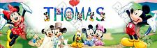 "Disney Mickey Mouse Poster 30"" x 8.5"" Custom Name Painting Printing"