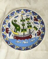 Vintage Hand Made Greek Island  Decorative Plate Paradissi Rhodes Greece Rodos