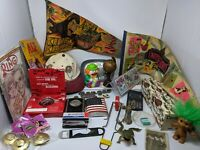 VINTAGE JUNK DRAWER LOT-COLLECTIBLES-NOVELTIES-TOYS-PLUS MIXED LOT