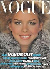 1978 November VOGUE 70s vintage fashion magazine Natalie Hocq Cartier ski Zermat