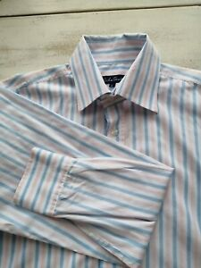 Le Shark Blue Pink Stripe Longsleeved Shirt Size Large