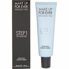 MAKE UP FOR EVER  'STEP 1' SKIN EQUALISER BLUE RADIANT PRIMER 7 30ML RRP £26