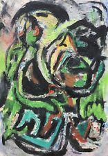 FIGURENKOMPOSITION MODERNE KUNST DANISH MID CENTURY MODERN ART COLORFUL SIXTIES