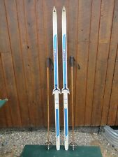 """GREAT Ready to Use Cross Country 75"""" Long LAMPINEN 195 cm Skis + Poles"""