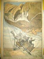 COMMUNE DE TREVOL DIRIGEABLE REPUBLIQUE CATASTROPHE LE PETIT JOURNAL 1909
