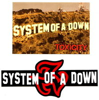 SYSTEM OF A DOWN promo postacard and Sticker TOXICITY Heavy Metal trash