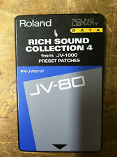 ROLAND JV -1000 preset patche Sound Library Data JV80-07 Rich Sound Collection 4