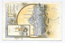 """CORNE D'OR"" + posta austriaca per Trieste  cartolina illustrata a colori-RARA"