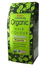 RADICO Colour Me Organic Hair Colours 100g Burgundy