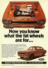 1972 FORD AUSTRALIA ESCORT MK1 TWIN CAM A3 POSTER AD SALES BROCHURE ADVERT