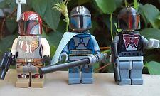 Custom Star Wars MANDALORIAN Pre Vizsla,Sabine,Super Commando Minifigure Size 3p