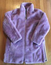 NWT J Crew Faux Fur Zip-Up Teddy Coat Size XS Smoky Wisteria #J9064 $229