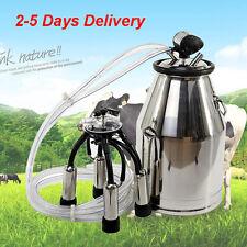 TOP Cow Milker Portable Milking Machine Barrel 304 Stainless Steel Bucket