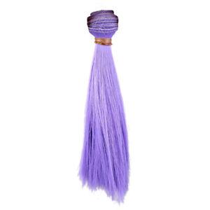 [wamami] 10pcs Purple Straight Hair Extension DIY Wig For MSD SD BJD Dollfie ACC