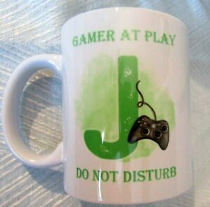 Personalised Men's Boy's Gaming Gamer do not disturb mug any text