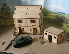 28mm Semi-Detached house Laser Cut MDF Building Scenery  Infinity Bolt Action