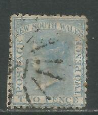 New South Wales 1862 Queen Victoria 2p blue (49) used