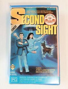 RARE VHS. SECOND SIGHT. ORIGINAL ROADSHOW BIG BOX CLAMSHELL CASE. EX RENTAL 1990