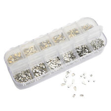 300Pcs Gold Silver Metal Nail Art Tips Fashion Metallic Studs Stickers New