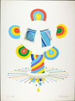 Vintage Serigraph, Signed Werner Pfeiff, Modern Abstract Limited Edition 10/100
