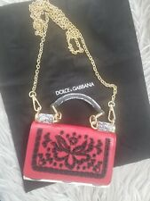Dolce & Gabanna Wallet On A Chain Sicily Embroidered