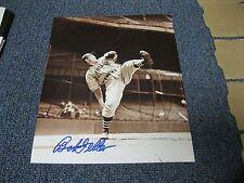 Bob Feller Autographed Photo Beckett Pre Certified 3