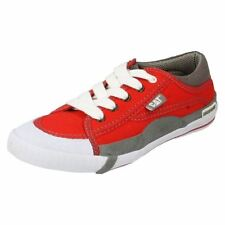 Zapatillas de lona de mujer de color principal rojo de lona