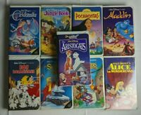Disney Clamshell VHS Lot - 9 Different Tapes -
