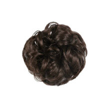 Wavy Curly Buns Drawstring Clip-In Hair Girls Womens Hairpiece Makeup Tool New