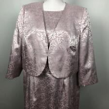 Tahari ASL 2pc Sleeveless Dress Suit w/ 3/4 Sleeve Jacket Womens sz 14W