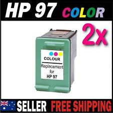 2x Color Ink for HP 97 C9363WA Photosmart 325 335 375 425 2355 2575 2610 2710